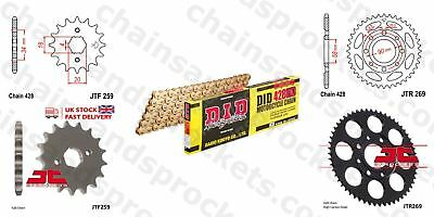 DID- All Gold HD Chain Sprocket Kit 428HDGG 126 fits Daelim VS125 97-99