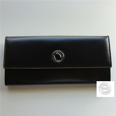 Clearance!Oroton BLACK Ebony Travel Wallet Large Purse Cow Leather RRP245