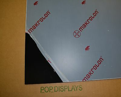 "BLACK POLYCARBONATE LEXAN MAKROLON SHEET 1/4"" x 32"" x 24"""