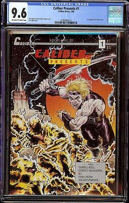 Caliber Presents # 1 CGC 9.6 OW/White (Caliber, 1989) 1st appearance Crow