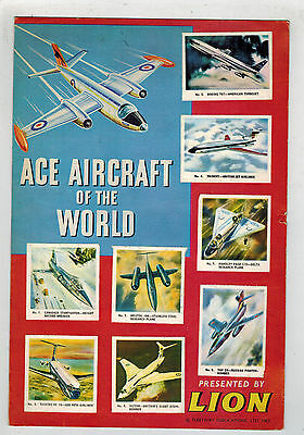 LION COMIC 1963 FREE GIFT -  Ace Aircraft of the World