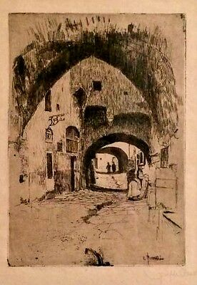 American Artist Joseph Pennell, Untitled, 1900's Signed Etching