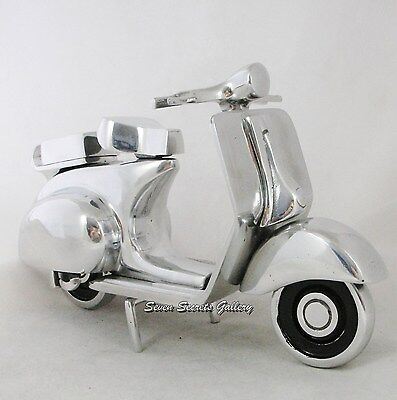 Polished Chrome Nickel Metal Vintage Model Vespa Scooter GS Sprint Rally SS PX