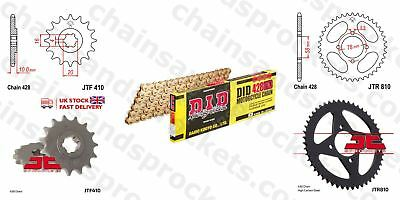DID- All Gold Heavy Duty Chain Kit 428HDGG 132 fits Hyosung XRX125 SM 07-08