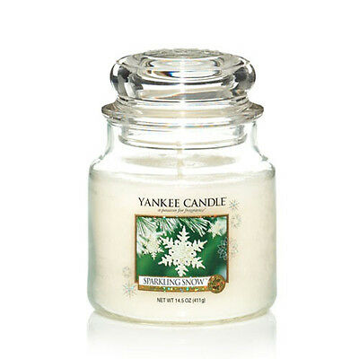 Yankee Candle Medium Jar Scented Candle - Sparkling Snow