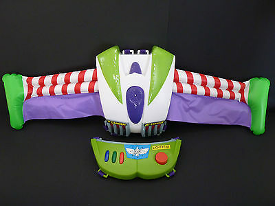 Toy Story Buzz Lightyear Inflatable Wings Jet Pack TALKING & SOUNDS Thinkway Toy