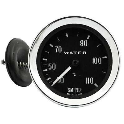 Gauge for water temperature - 52mm - °C - Capillary - Black • NEW • Moss Europe