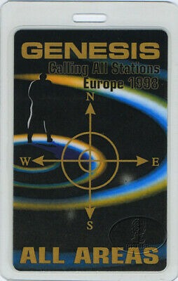 Genesis 1998 Europe Tour Laminated Backstage Pass Aa