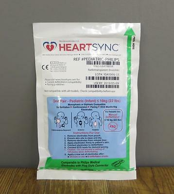 New Philips HeartSync Pediatric Electrode Pads mrx heartstart xl <22lbs