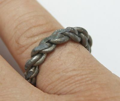 Viking Twisted SILVER  finger ring