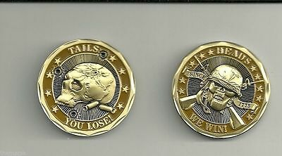 Military US Army Challenge Coin Heads We Win Tails You Lose New Skull Crossbones