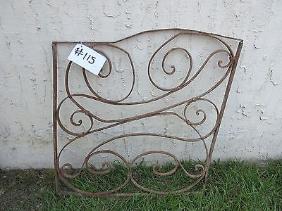 Antique Victorian Iron Gate Window Garden Fence Architectural Salvage Door #115