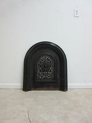Antique Victorian Cast Iron Fireplace Decorative Insert Mantle Screen B