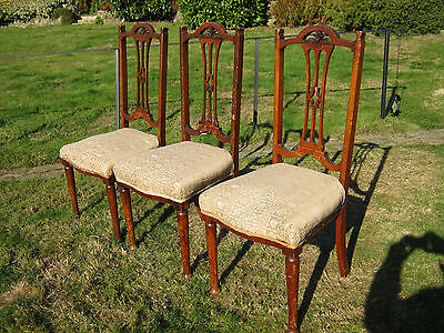Edwardian Dining Chairs - set of 3 - Sprung Seats