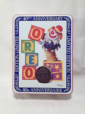 Oreo Cookies 40th Anniversary Limited Edition Tin 1989 TIN ONLY