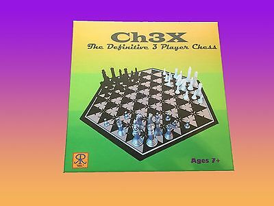 Ch3x: The Definitive 3 Player Chess board set (better than big bang theory game)