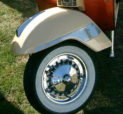 Vespa Stainless Steel Front Mudguard Flashes