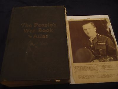 The People's War Book and Atlas first edition1920 signed by Billy Bishop