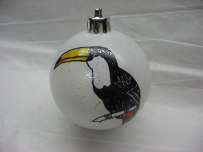 New Handpainted Toucan Christmas Ornament