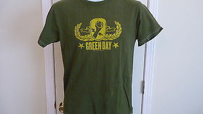 Green Day 2004 t shirt, Army Green, size Small