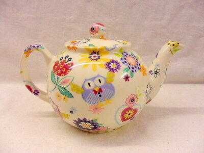 Owls Hoot design 2 cup teapot by Heron Cross Pottery