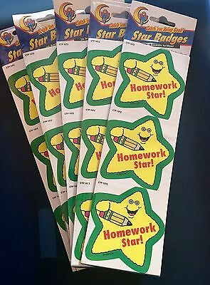 """Homework Star!"" Star Badges/Stickers ALL NEW/Nice Quality WHOLESALE LOT OF 216"