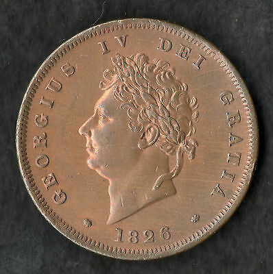 1826 George IV CoPenny EF With Nice Colour