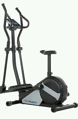 Roger Black Gold Magnetic 2 In 1 Cycle-Elliptical Cross Trainer
