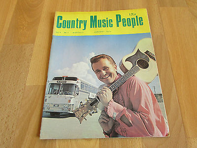 COUNTRY Music People Magazine Jan 1973 / 73 Bill ANDERSON Cover Vol 4 No 1