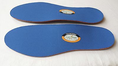 New 10 Seconds Flat Foot Sport Arch Support Performance Insoles