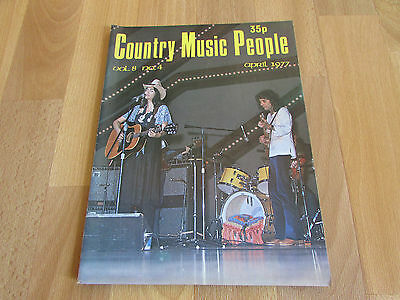 COUNTRY Music People Magazine Apr 1977 / 77 EmmyLou HARRIS Cover Vol 8 No 4