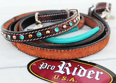 Horse 8ft Contest Western Tack Barrel Leather Rein 6639