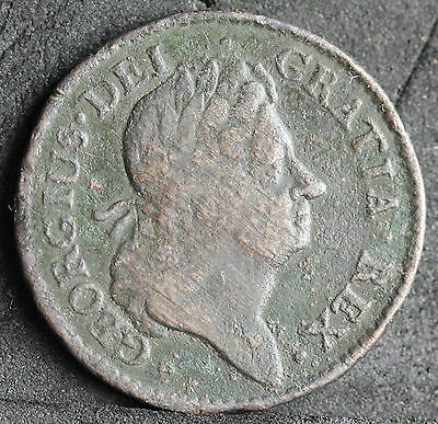 Ireland / Colonial America. George I, Wood's Irish Halfpenny, 1723. gF