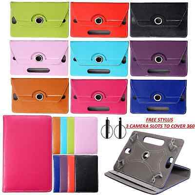 """360° Rotating Case Cover Stand For 7"""" Inch ACER iCONIA ONE B1-730 Free Stylus"""
