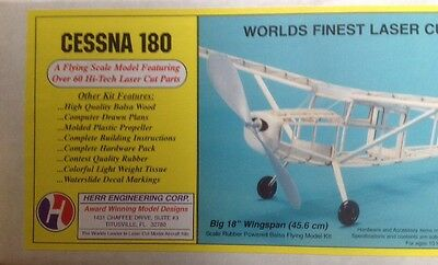 Bnib Cessna 180 Top Quality Rubber Power Model Kit Herr Engineering Corp