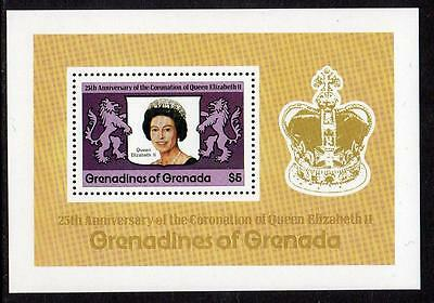 Grenada MNH 1978 25th Anniversary of the Coronation of Queen Elizabeth II M/S