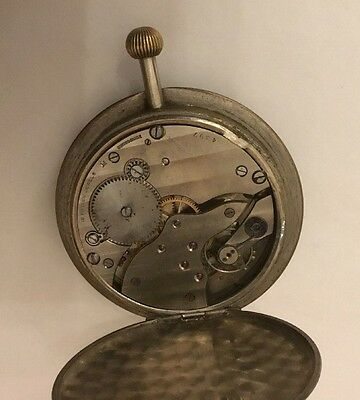 Edwardian 15 Jewels Travelling Travel Watch Pocket Clock