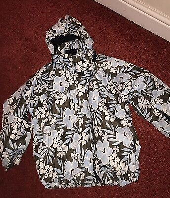 Tog 24 Girls Winter Ski Jacket Coat Floral Age 5-6 LOOK