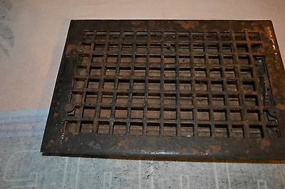 "Antique Cast Iron Floor Grate Heating Register Vent  15 3/4"" x 10 7/8""     #3"