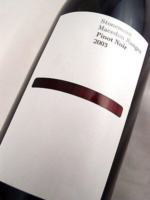 2003 STONEMONT Macedon Ranges Pinot Noir A Isle of Wine