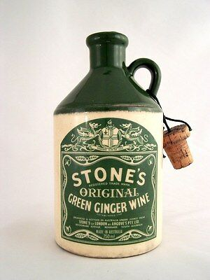 1978 circa NV STONES Original Green Ginger Wine Ceramic A Isle of Wine