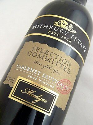 2007 ROTHBURY ESTATE Selection Committee Cabernet Isle of Wine