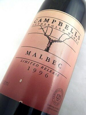 1996 CAMPBELLS Wines Limted Release Malbec Isle of Wine