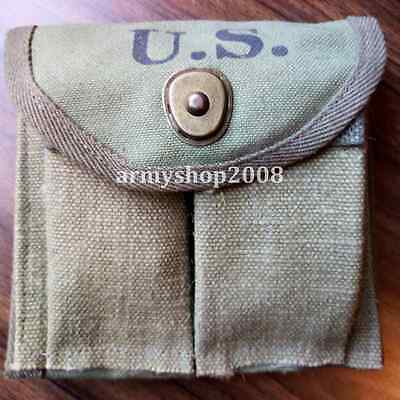 WWII Type WW2 US Army M1 Ammunition Malote Militaire Ammo Pouches Magazine
