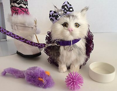 """Pet Kitty Cat for American Girl Doll 18"""" Accessories SET"""