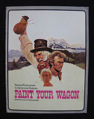 PAINT YOUR WAGON 1970 Original movie programme Clint Eastwood Lee Marvin