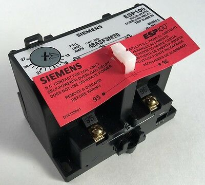 NEW Siemens 48ASF3M20 Solid State Overload Relay ESP100