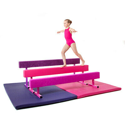 High Gymnastics Balance Beam 1.8M 6ft Home Gym Training Metal Feet Equipment Bar