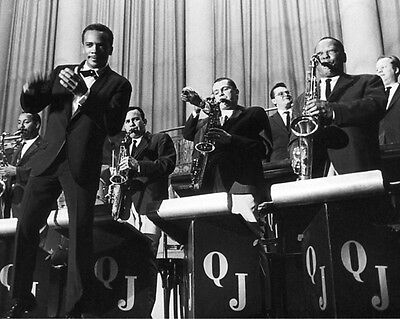 Jazz Bandleader QUINCY JONES Glossy 8x10 Photo Orchestra Poster Music Print