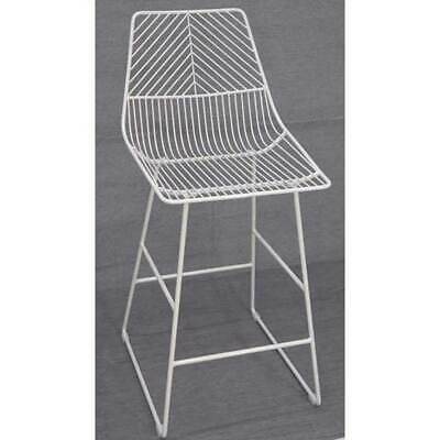 NEW Sive Indoor Wire Bend NET Stool Cafe Seat Dining Replica White